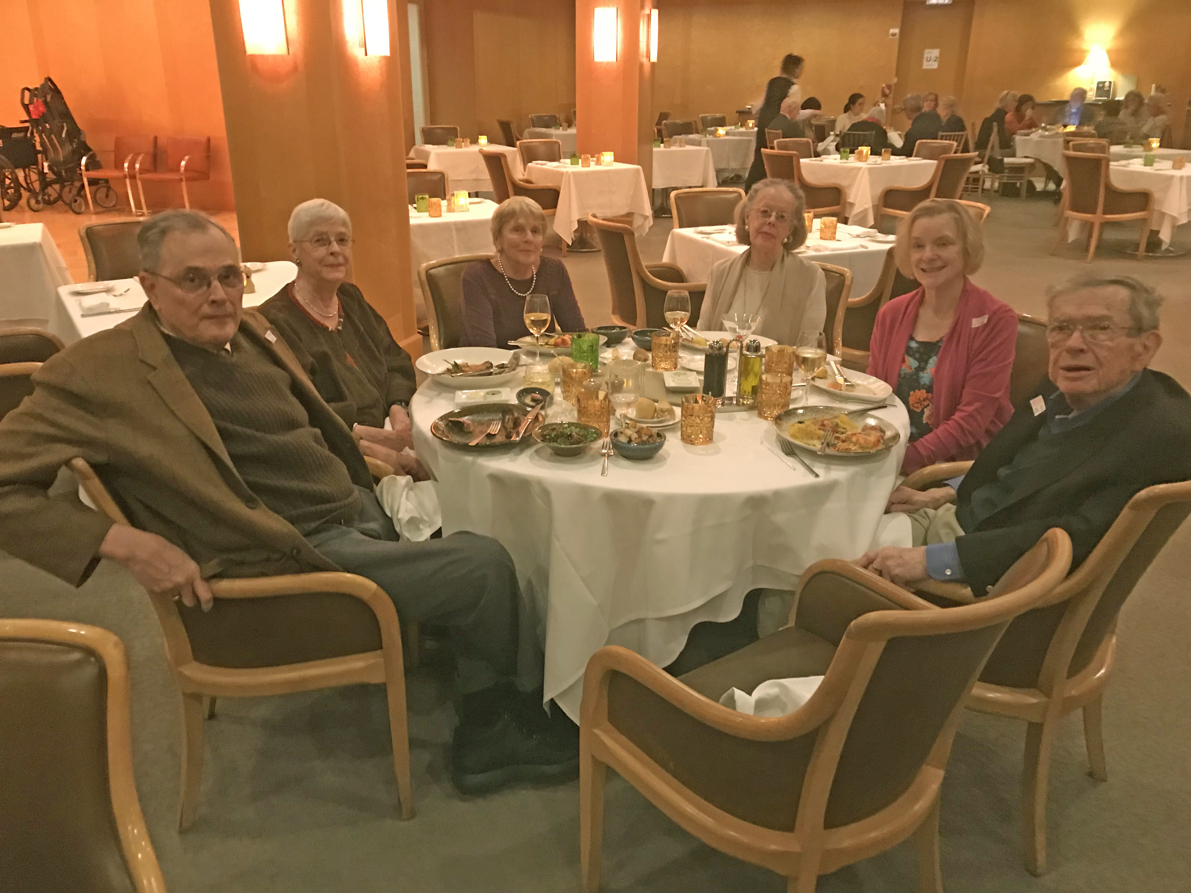 Dinner after the tour in the Members Dining Room