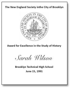 History Award Bookplate