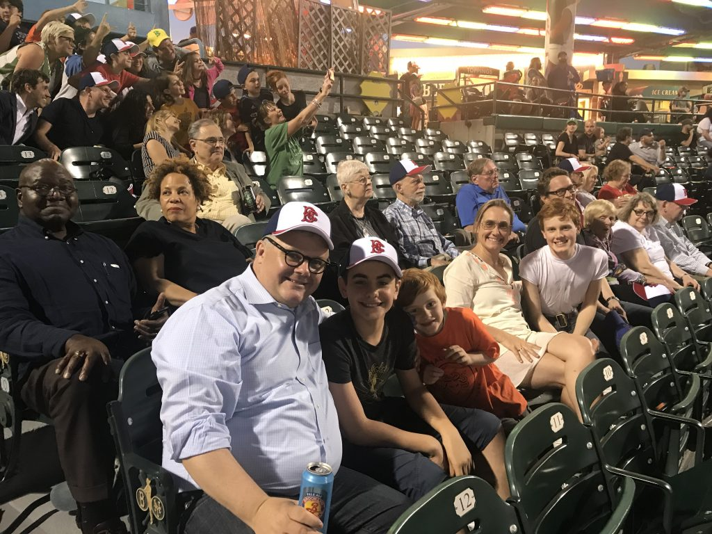 NES Members at Ballpark - 1
