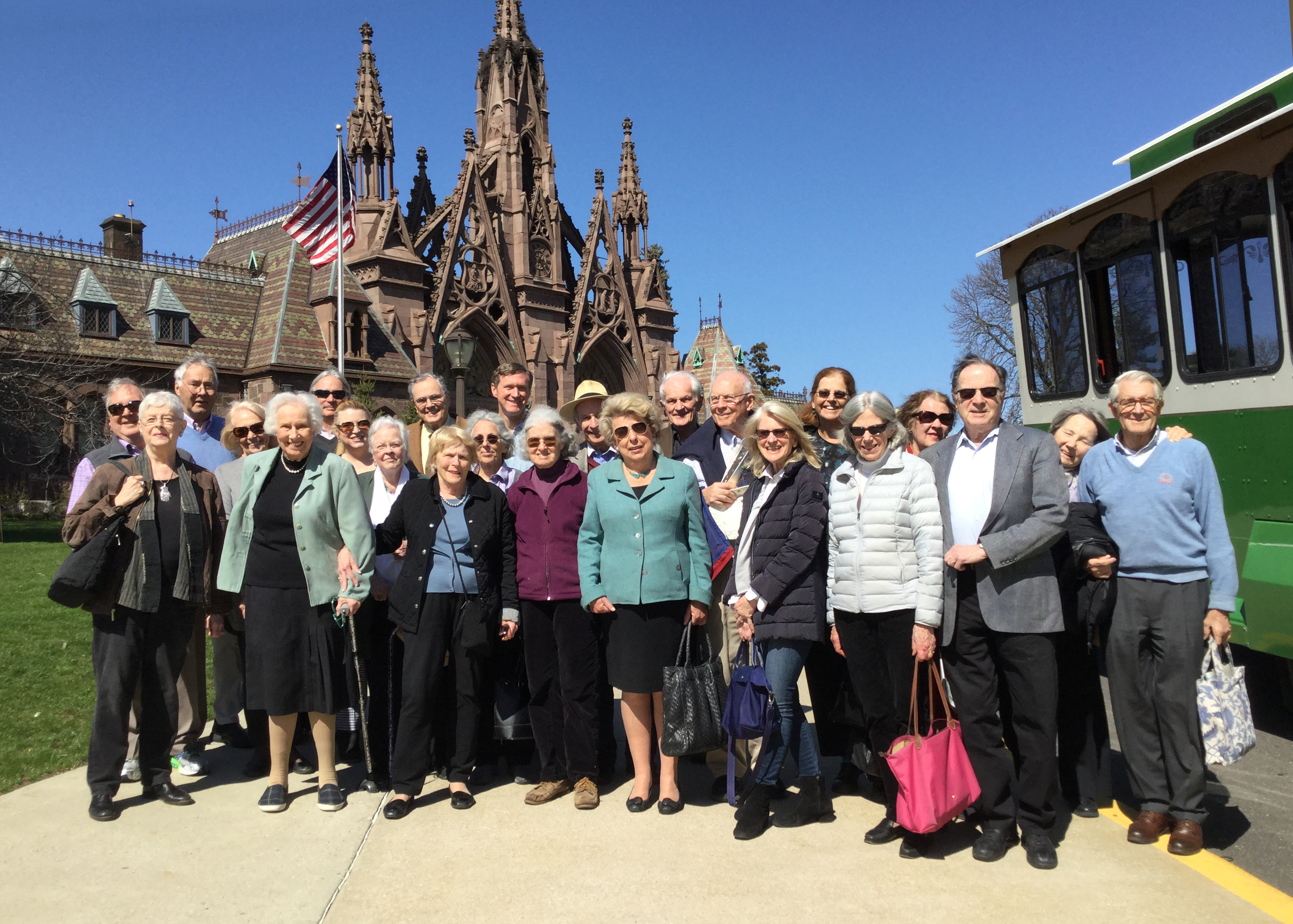 Green-Wood Cemetery tour - waiting to begin