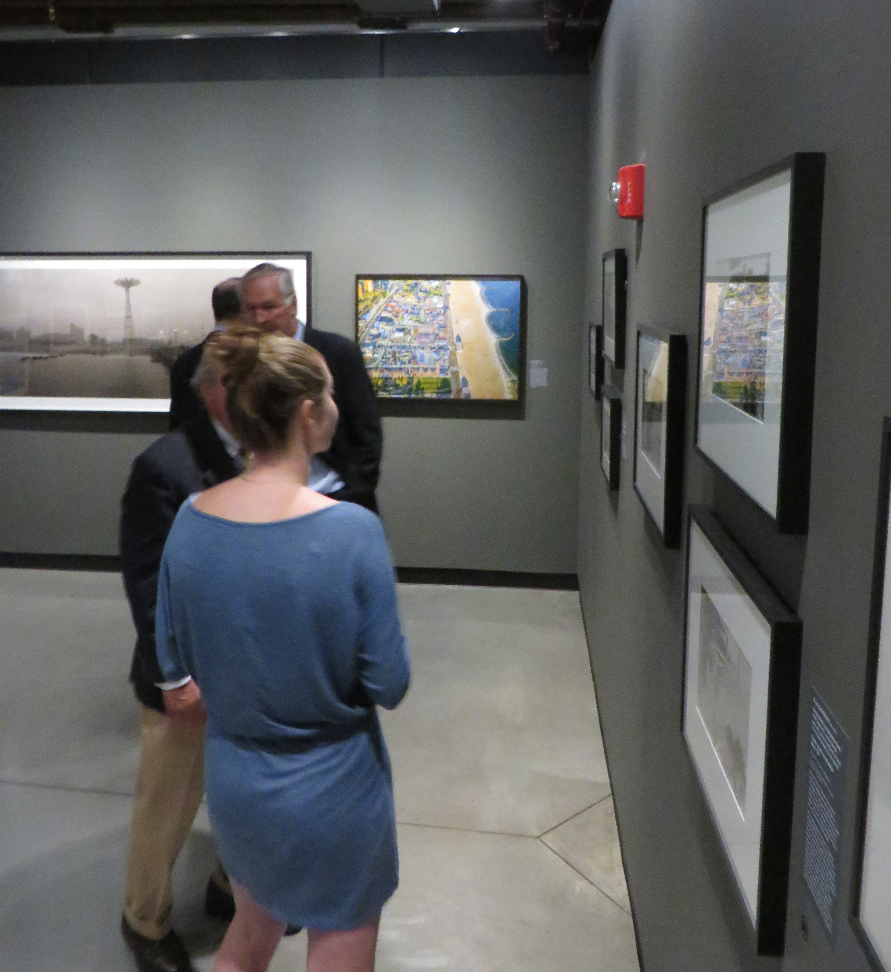 Exhibit of old maps and photographs